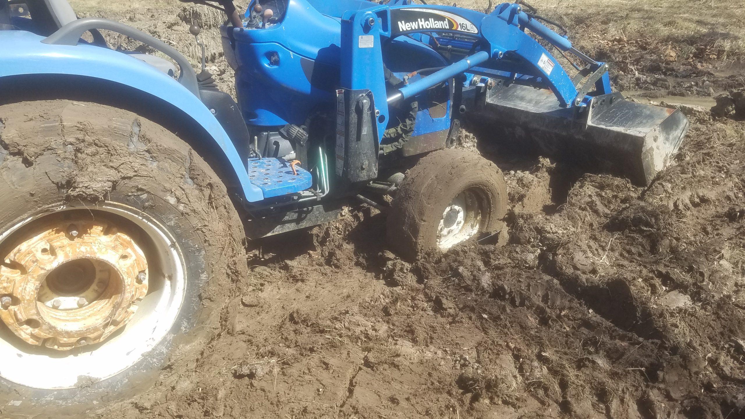 Wayne Davids stuck tractor